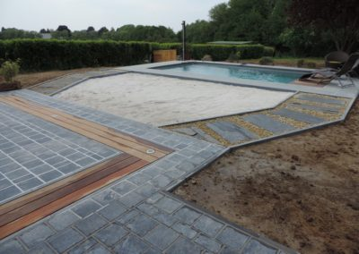 2 Terrasse - Pierre Bleue et Bois - Plage - Eclairage - Piscine - Jardin complet - Aménagement extérieur - Laurent Hubert