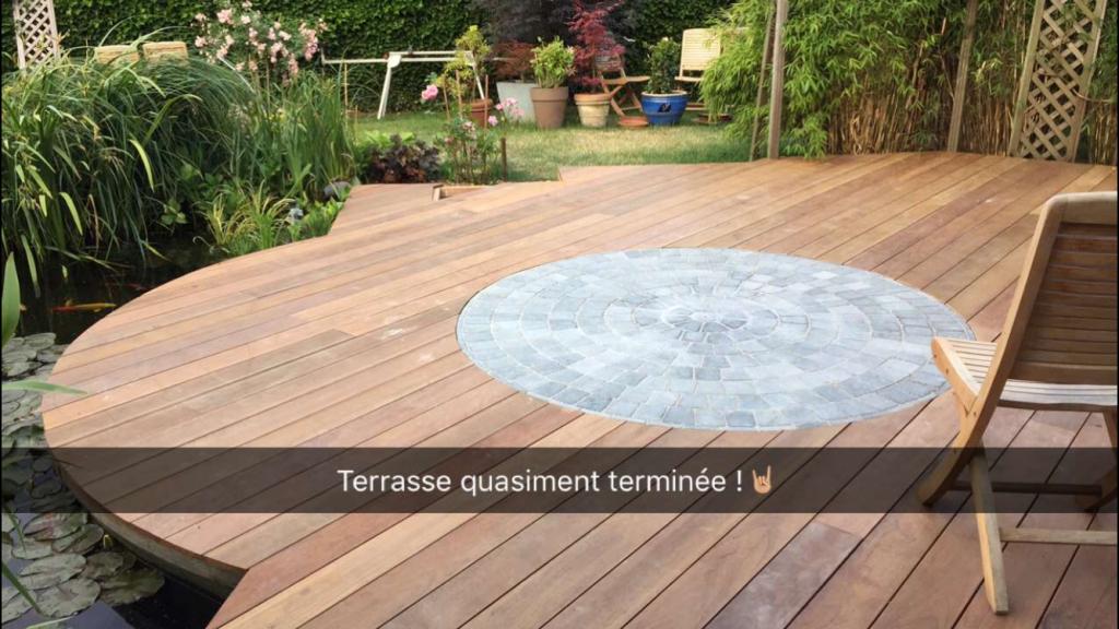 21 Terrasse - Pierre bleue et bois - Bois - Alida rondo - Laurent Hubert - Aménagement extérieur - Laurent Hubert