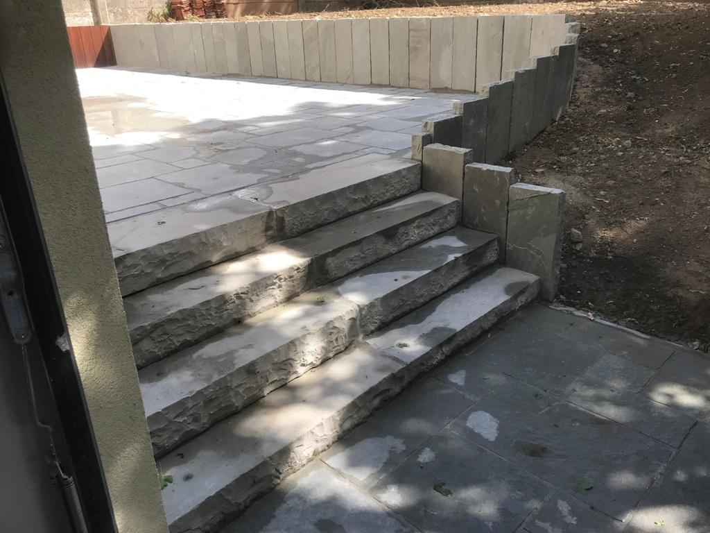 27 Escalier - Terrasse - Kandla Grey - Aménagement Extérieur - Laurent Hubert