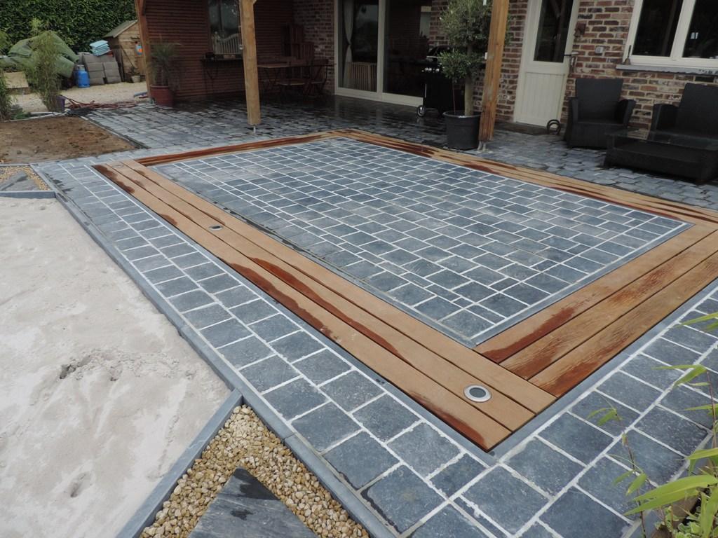 3 Terrasse - Pierre bleue et bois - Ipe - Eclairage - Aménagement extérieur - Laurent Hubert