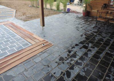 5 Terrasse Pierre Bleue et bois - Eclairage - Aménagement extérieur - Laurent Hubert